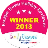 Escape Travel Holiday Reviewer Winner 2013